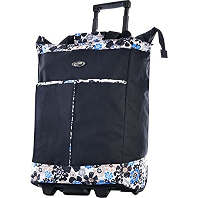 Olympia Rolling Shopper Tote (Black)