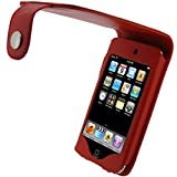 IGadgitz PU Leather Case Cover with Belt Clip for Apple iPod Touch 2G/3G - Red