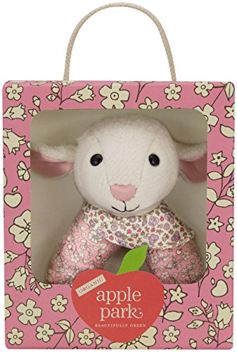 Apple Park Organic Patterned Rattle - Lamby