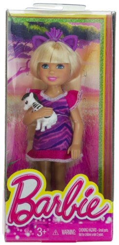 "Chelsea + Baby Zebra: Barbie Chelsea Goes On A Safari Collection ~5.5"" Doll Figure"