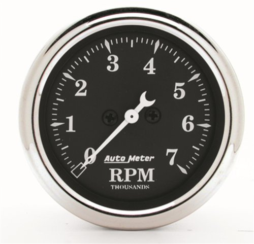 Auto Meter 1797 Old Tyme Black Electric Tachometer