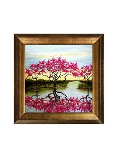 "Susan Art ""A Flowery Tree"" Framed Canvas Print"