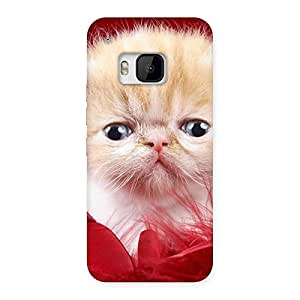 Ajay Enterprises Cool Kitty In Red Fur Back Case Cover for HTC One M9