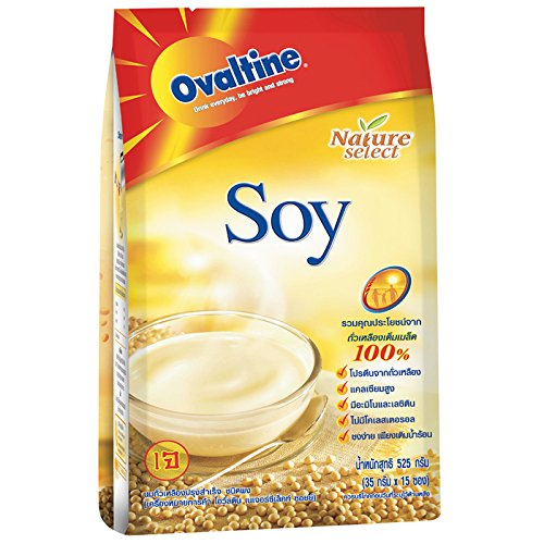 Ovaltine Soy Milk Mix Of Soy Tofu Powder From Thailand (14 Stick X 32G)