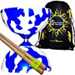 Jester Diabolos + Wooden Diabolo Sticks, Diablo String & Travel Bag! (Blue/White)