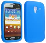 BLUE COLOUR SILICONE PROTECTION CASE COVER FOR SAMSUNG GALAXY ACE II i8160