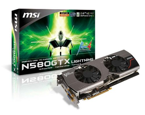 MSI N580GTX LIGHTNING nVidia GeForce GTX580 1536MB DDR5 2DVI/HDMI/DisplayPort PCI-Express Video Card