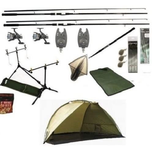 Complete Carp Fishing Set All You Need To Start Carp Fishing + Shelter Bivvy
