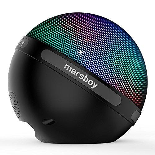 Marsboy ワイヤレスBluetoothスピーカー ポータブルイルミネーションLEDライト搭載 スマートフォン対応