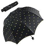 Jenabee® Tiny Bowknot Arch Sun-Proof Umbrella Anti-Ultraviolet Umbrellas Black Vinyl Coated Sun Blocked Parasol