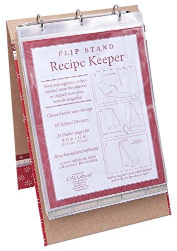 C.R. Gibson Vertical Recipe Keeper Flip Stand, Cardinal Recipes (Recipe Flip Binder compare prices)