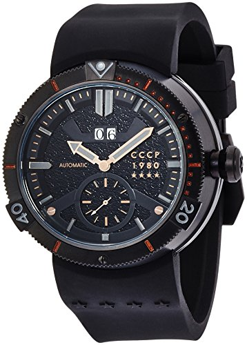 CCCP CP-7006-03 Mens Kashalot Black Automatic Watch