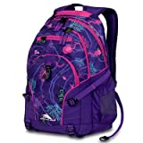 High Sierra Loop Backpack, Purple Print, 19x13.5x8.5-Inch