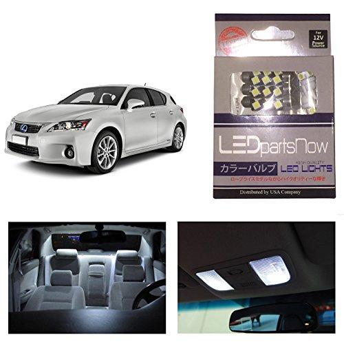Ledpartsnow Lexus Ct200H Ct200 2011-2014 Xenon White Premium Led Interior Lights Package Kit (8 Pieces)