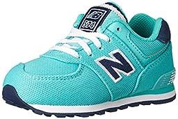 New Balance KL574 Pique Polo Pack Running Shoe (Infant/Toddler/Little Kid/Big Kid), Teal/Black, 2 M US Infant