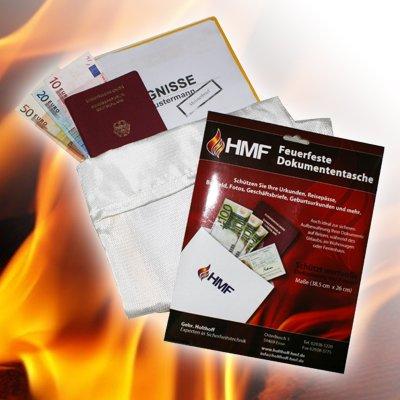 Feuerfeste Dokumententasche Dokumentenmappe, ideal auch in Tresor Geldkassette Dokumentenbox, DIN A4 !