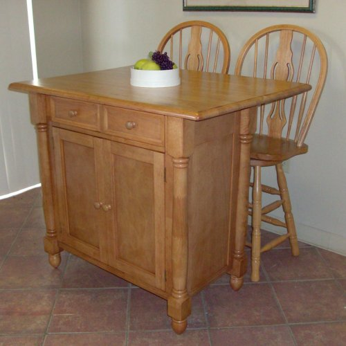 Drop Leaf Kitchen Island (DLU-KI-4222-BCH)