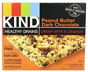 KIND Healthy Grains Granola Bars, Peanut Butter Dark Chocolate, 1.2 Ounce, 5 Count (Pack of 3)