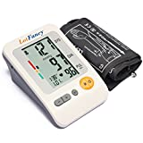 LotFancy Automatic Digital Arm Blood Pressure Monitor, Irregular Heart Rate Detector, 30x4 Memories for 4 Users, WHO Indicator, FDA Approved (Large Cuff 11.81-16.53 inch)