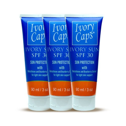 3 Pack - Ivory Caps Skin Lightening Sunc
