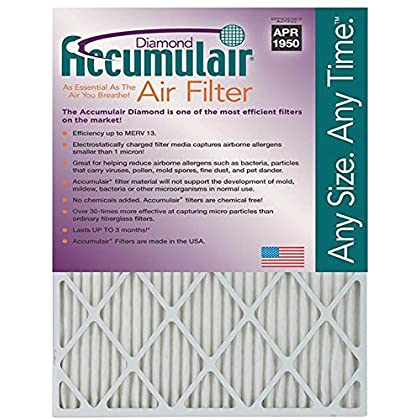 8x20x1 (Actual Size) Accumulair Diamond 1-Inch Filter (MERV 13)-Air Conditioning Filter sale 2015