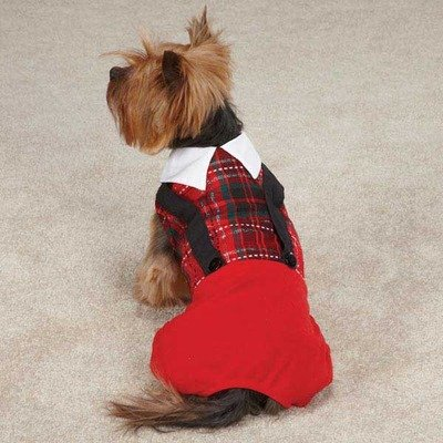 East Side Collection ZM4234 14 83 Yuletide Tartan Jumper for Dogs, Small/Medium, Red