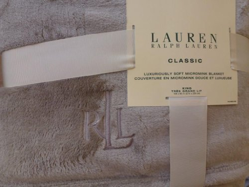 Ralph-Lauren-Classic-Micromink-King-Blanket-Grey-taupe-King