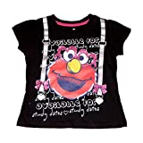 Sesame Street Elmo Little Girls' Toddler Short Sleeve Tee Shirt Black