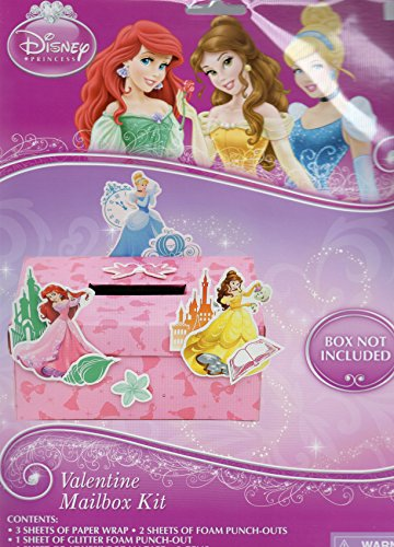"Disney Princess Valentine Mailbox Kit (Box Not Included) Designed to Decorate a Box 8.25"" x 11.75"" x 5 """