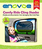 Car Sun Shade (2 Pack) - Premium Baby Car Window Shades are best for blocking over 97% of Harmful UV Rays and protecting your child from sunlight and glare - Static Cling Car Sunshades easily apply without jumbo suction cups and fit most vehicles - Comes with a LIFETIME 100% Money Back Guarantee