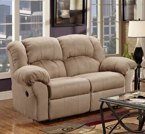 Roundhill Furniture Sensation Dual Reclining Loveseat, Camel Tan