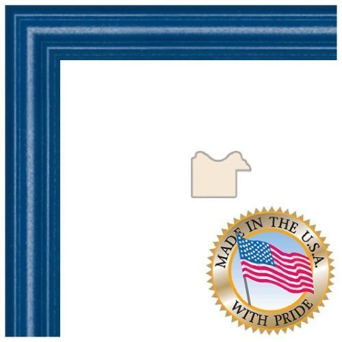 ArtToFrames 16x20 inch Blue Stain on Red Leaf Maple Wood Picture Frame, WOM0066-60823-YBLU-16x20