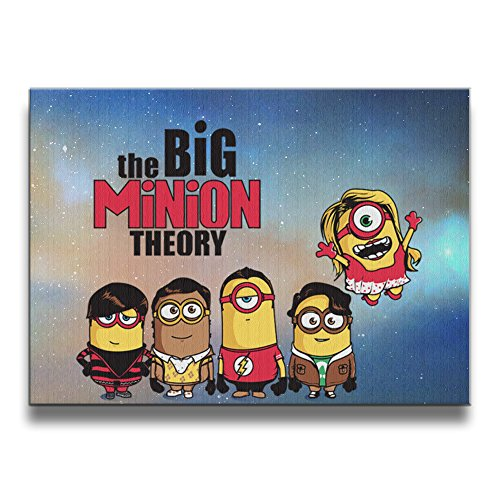 XJBD The Big Yellow Theory 1620 Inch Solid Wood Ornament Frameless Photo (Minions Movie: Minion Kevin Adult Costume)