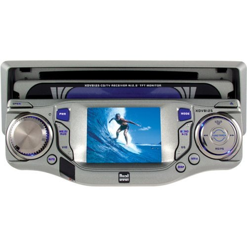 """Dual Xdv8125 Am/Fm/Cd/Tv Receiver With 2.5"""" Tft Lcd Monitor"""