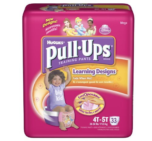 Huggies Pull-Ups Training Pants, Girls, 4T-5T, 33-Count