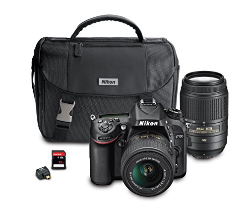 For Sale! Nikon D7100 DX-Format Digital SLR Camera Bundle with 18-55mm and 55-300mm VR NIKKOR Zoom L...