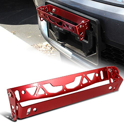 JDM Red Aluminum Front Or Rear Carbon Fiber Look Racing Tow Hook Anodized Kit (Jdm Tow Hook Carbon Fiber compare prices)