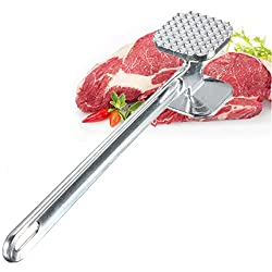 LussoLiv Aluminium Double Side Meat Tenderizer Meat Mallet Steak Hammer Kitchen Pounder Tool