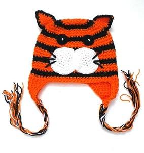 BB.19 Bonnet Bébé Enfant 0 18 Mois Bonnet Tigre Crochet Fait