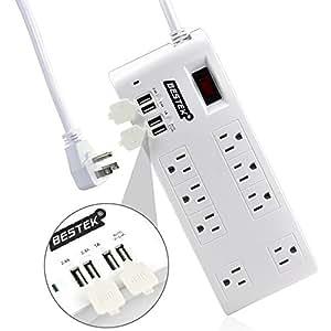 BESTEK 8-Outlet Home/Office Surge Protector 6 ft
