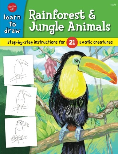 Learn to Draw Rainforest & Jungle Animals: Step-by-step drawing instructions for 25 exotic creatures (Walter Foster Learn To Draw compare prices)