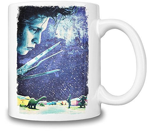Edward Scissorhands Cold Tazza Coffee Mug Ceramic Coffee Tea Beverage Kitchen Mugs By Slick Stuff