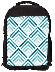 Snoogg Super Blue Design Backpack Rucksack School Travel Unisex Casual Canvas Bag Bookbag Satchel