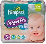 Pampers Active Fit Couches Pack Economique 1 Mois de Consommation x 204 Couches Taille 3 4-9 kg