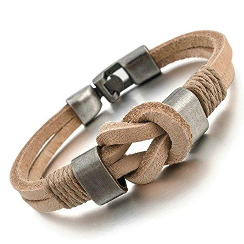 adisaer-acier-inoxydable-gourmette-hommes-bracelet-charms-brun-infini-argent-tresse
