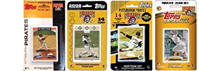 MLB Pittsburgh Pirates 4 Different Licensed Trading Card Team Sets