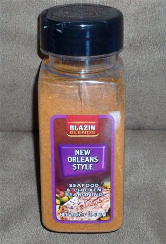 Blazin Blends New Orleans Style Seafood & Chicken Seasoning-Three Bottles