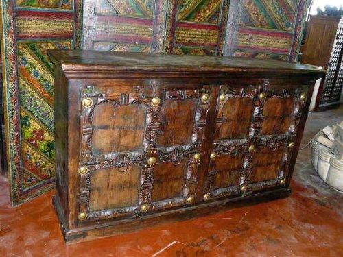 Mogul Interior Antique Doors Sideboard India Furniture Chest Buffet Server  (MI)