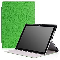 MoKo Microsoft Surface Pro 4 Case - Ultra Slim Lightweight Smart-shell Stand Cover Case for Microsoft Surface Pro 4 12.3 inch Tablet, Cutie Charm GREEN