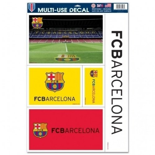 World Cup 2014 FIFA SOCCER FC Barcelona 11x17 Ultra Decals Sheet of 5